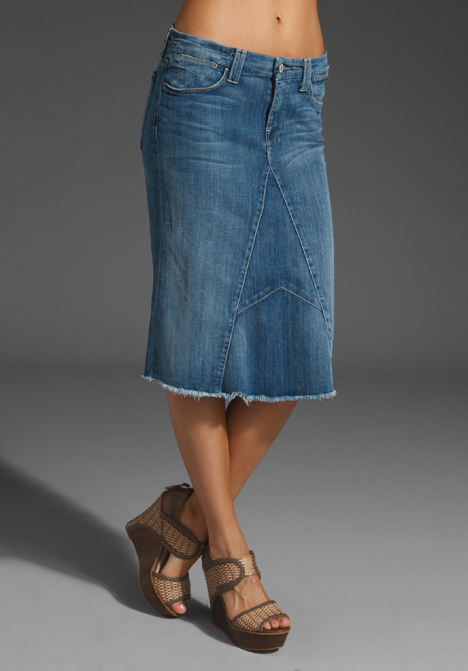 Mid Length Jean Skirts - Dress Ala