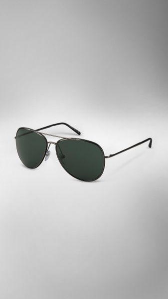Burberry Metal Aviators in Silver for Men (dark nickel) - Lyst