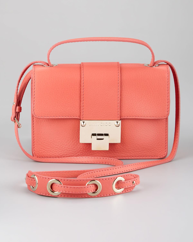 Jimmy Choo Rebel Flap Crossbody Bag Light Coral in Pink ...