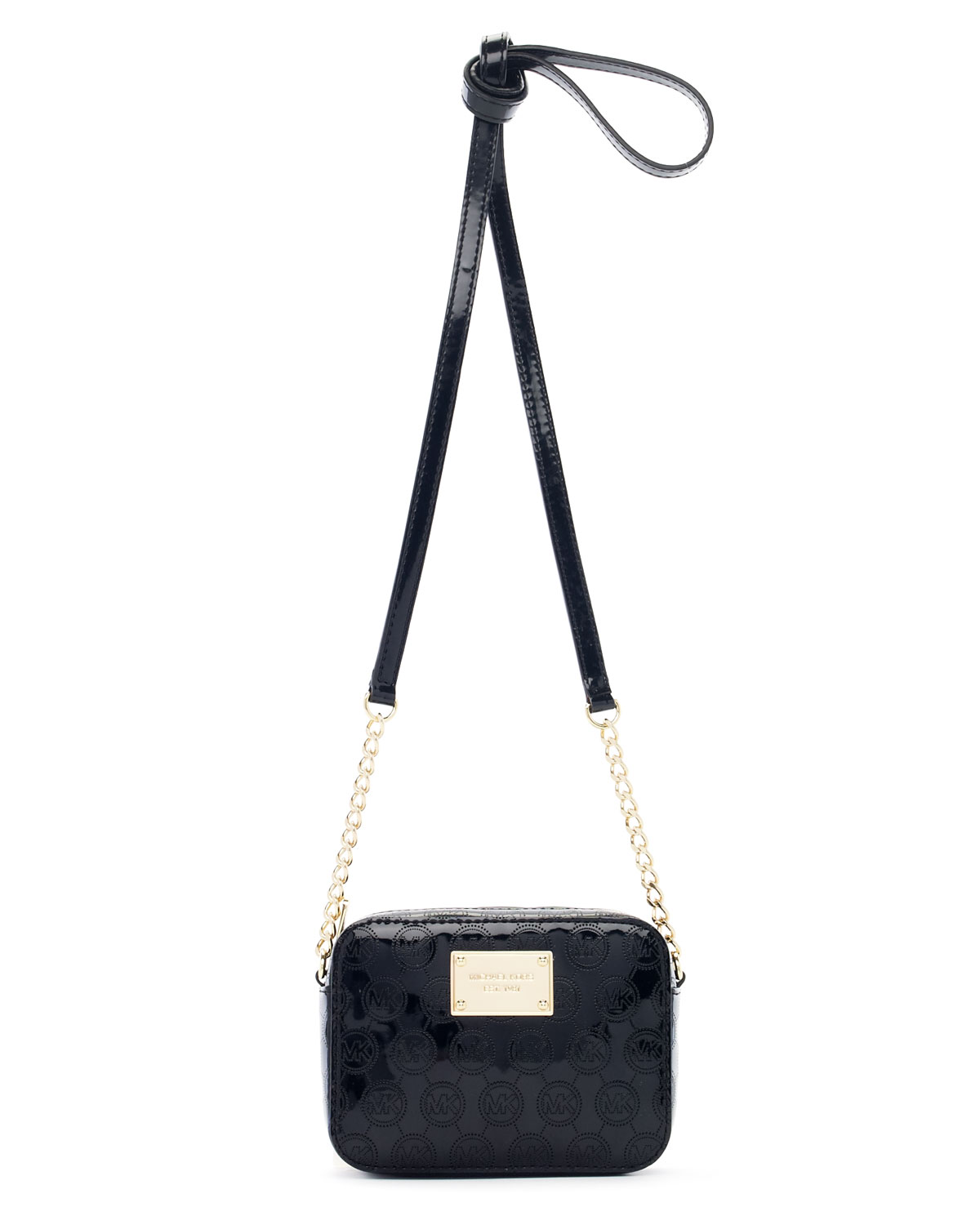 32e0686188f6 Lyst - Michael Kors Jet Set Monogram Crossbody in Black