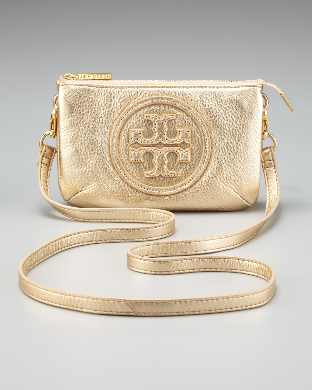 381bbc4e08 Tory Burch Logo Crossbody Bag Metallic in Metallic - Lyst