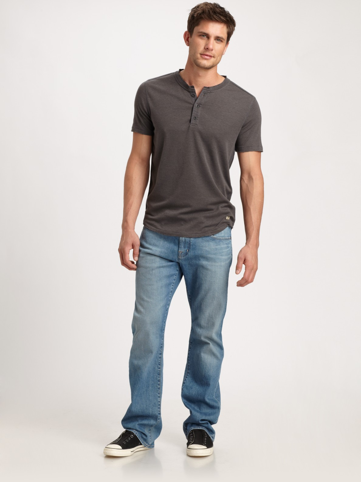ag adriano goldschmied protege straightleg jeans in blue for men lyst. Black Bedroom Furniture Sets. Home Design Ideas