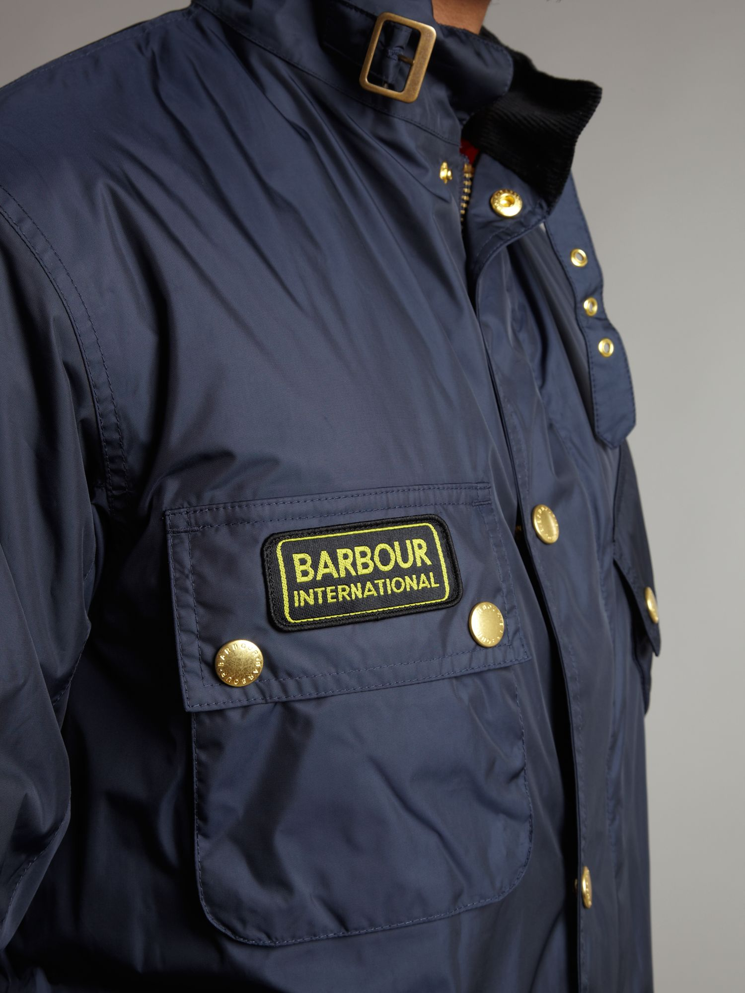 Lyst Barbour Lightening International Jacket In Blue For Men