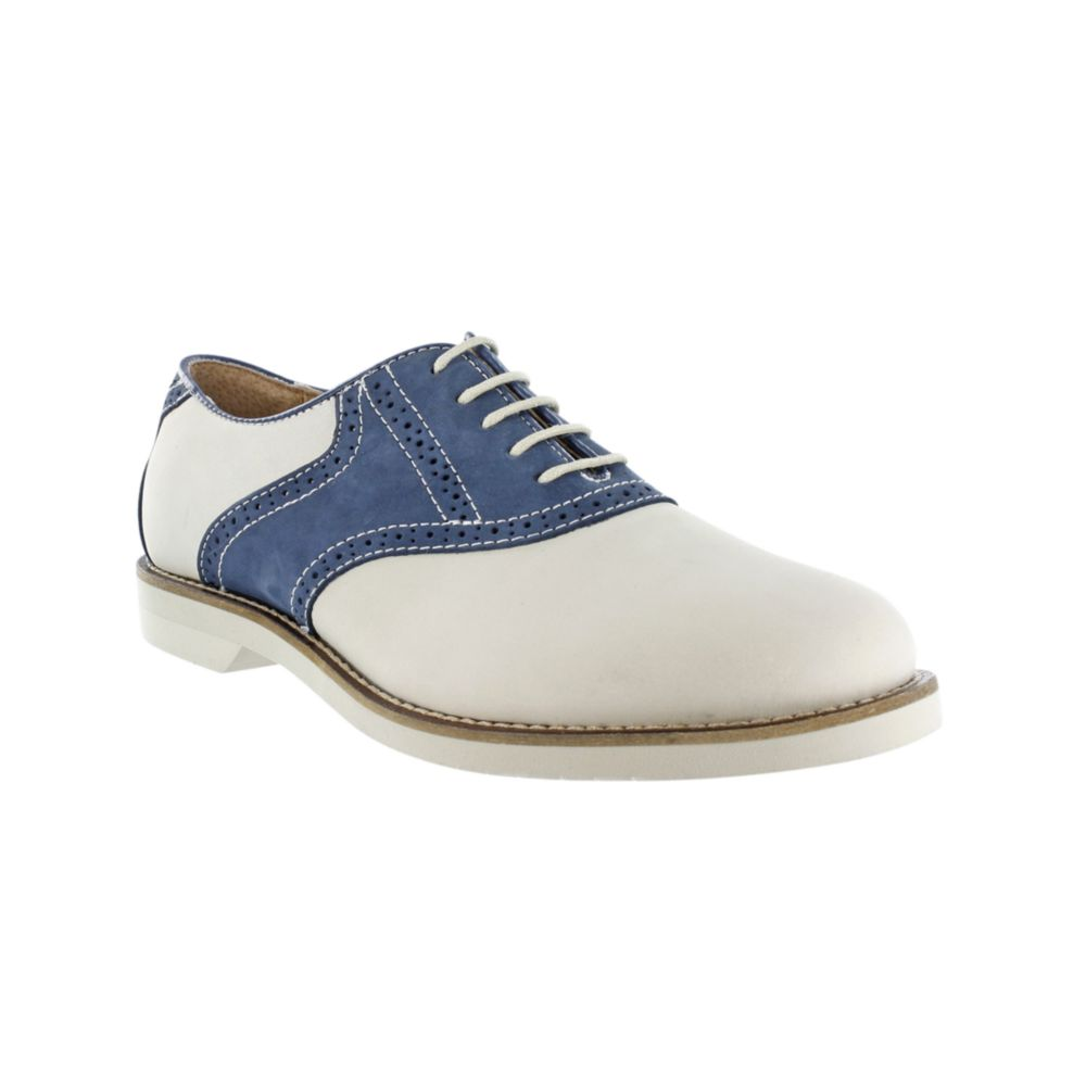 Navy And White Saddle Oxford Shoes