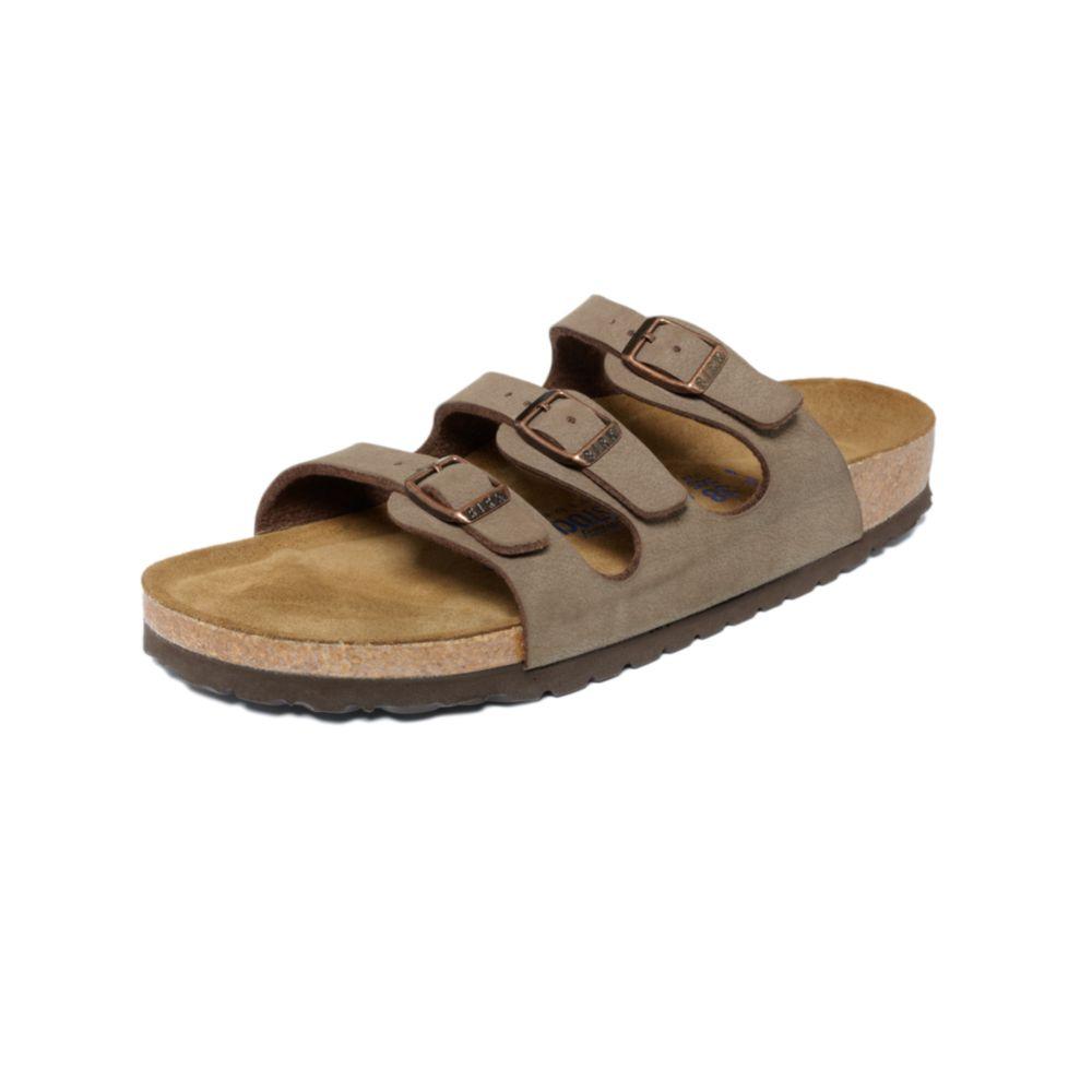 birkenstock florida sandals in brown lyst. Black Bedroom Furniture Sets. Home Design Ideas