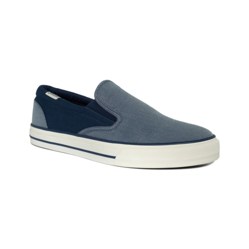 c5f8eb8deac Lyst - Converse Skid Grip Slip On Sneakers in Blue for Men