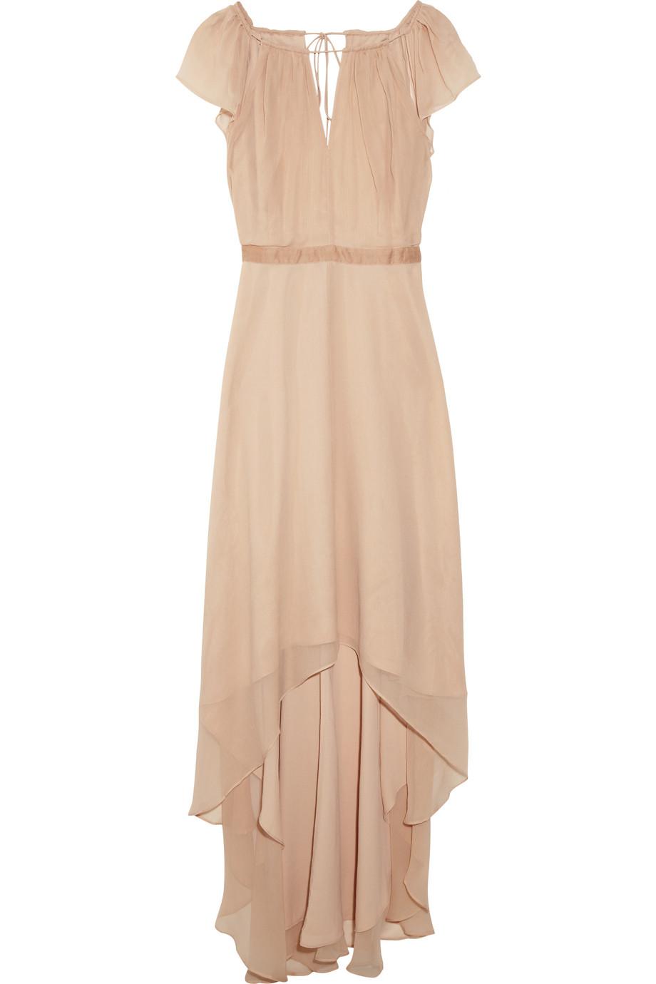 elizabeth and james sandy silk chiffon dress in pink blush lyst. Black Bedroom Furniture Sets. Home Design Ideas
