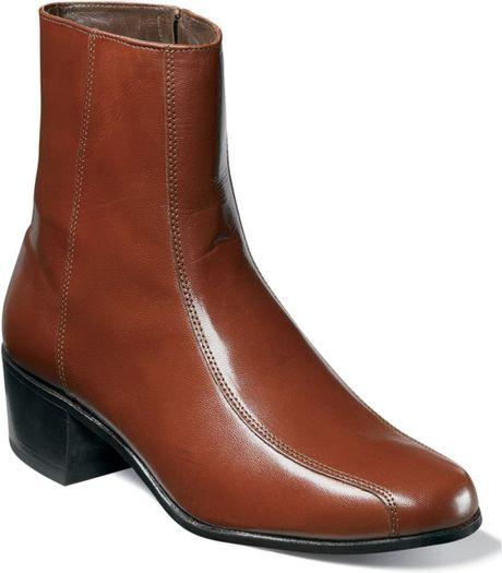 Florsheim Duke Bike Toe Ankle Boots in Brown for Men (antique gold