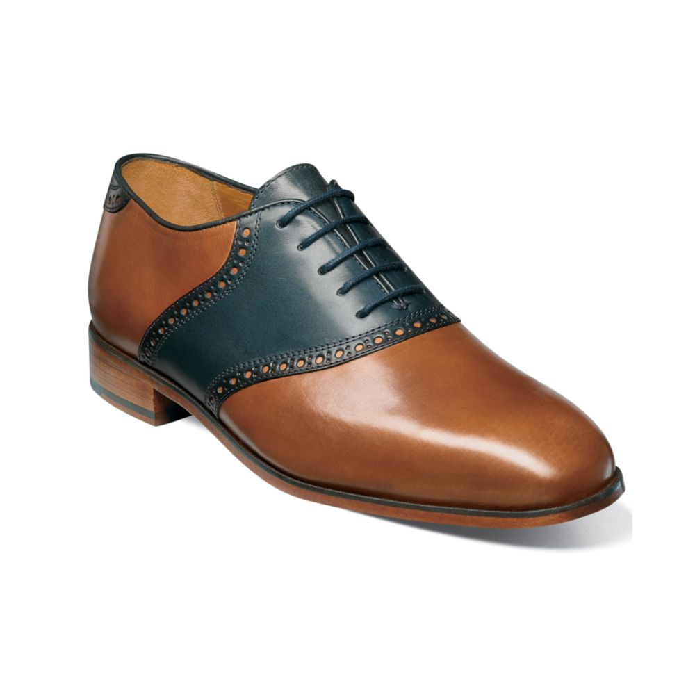 Florsheim Markham Saddle Lace Up Shoes In Brown For Men Lyst