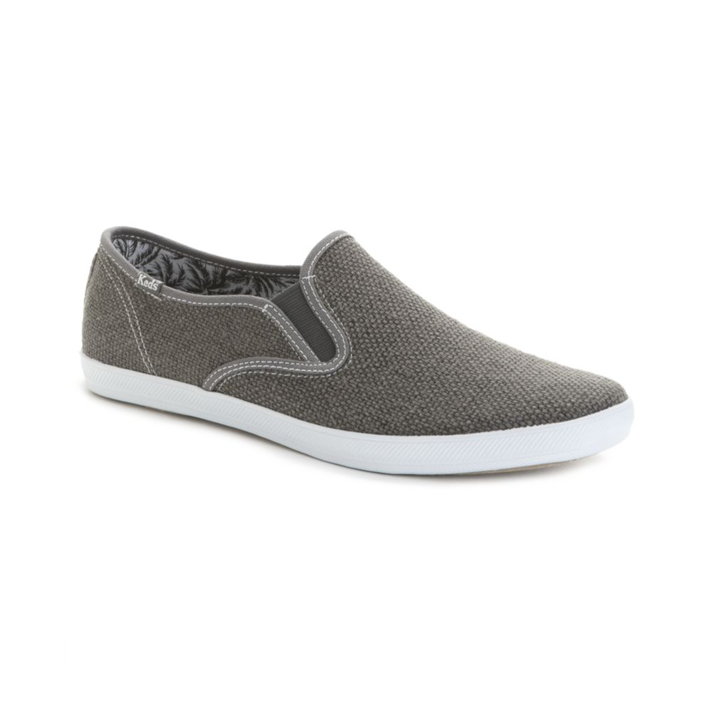 Keds Champion Heavy Weave Slip On Sneakers in Gray for Men ...