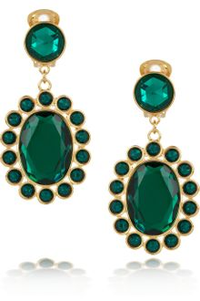 Miu Miu Crystal Clip Earrings - Lyst