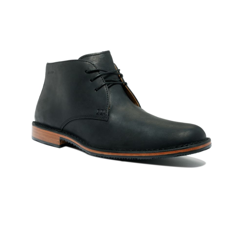 Lyst Sebago Tremont Chukka Boots In Black For Men