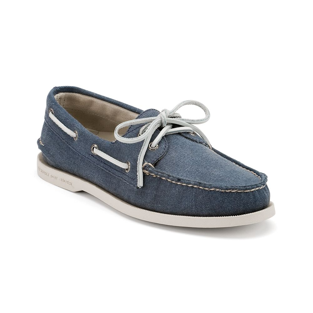 Navy Blue Boat Shoes Mens