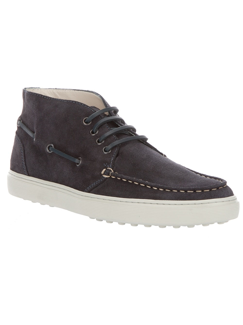 tod s boat shoe boot in blue for lyst