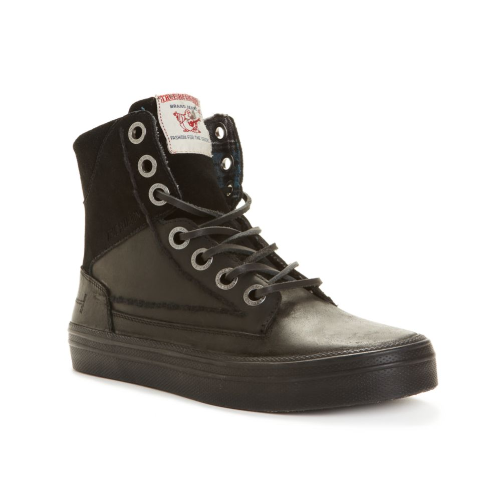 true religion camby laceup boots in black for lyst
