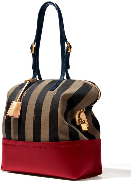 Fendi Striped 2bag in Brown (multi color) - Lyst