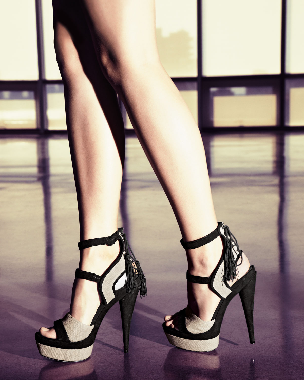 e73113487f56 Rachel Zoe Back-tassel Platform Sandal in Black - Lyst