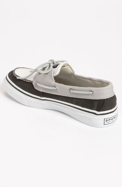 Sperry Top-sider Bahama Boat Shoe in White for Men (black/ white/ grey