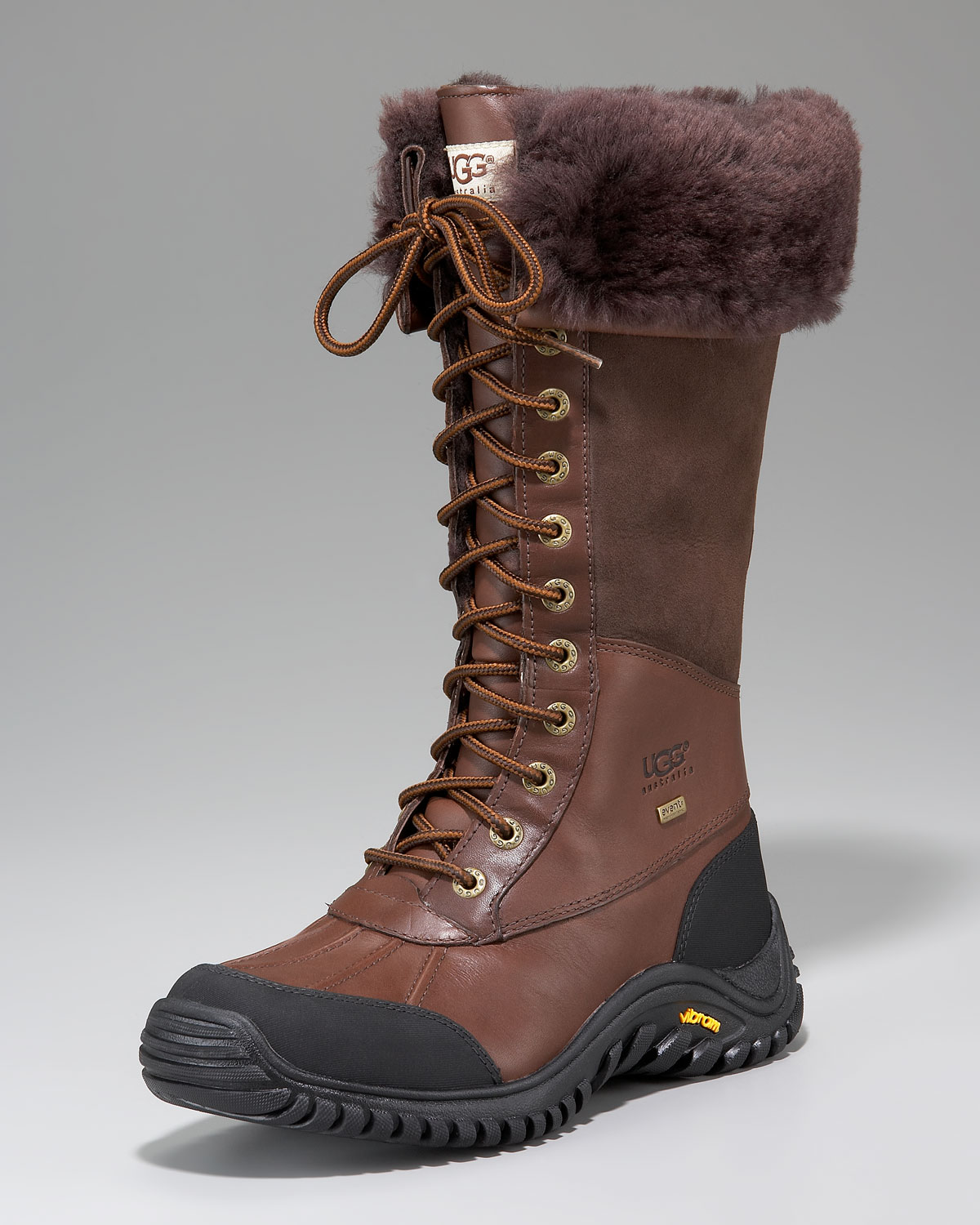 Ugg Adirondack Tall Leather Boot In Brown Lyst