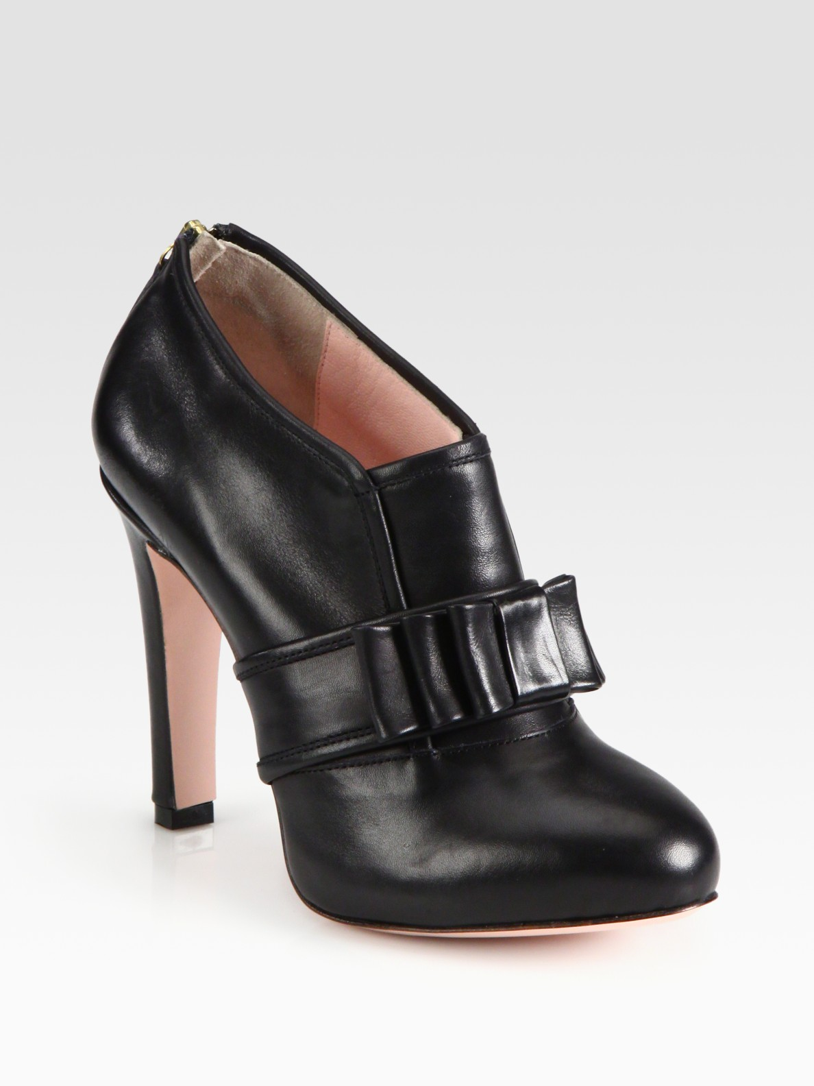 Red Valentino Leather Buckle Ankle Boots In Black Lyst