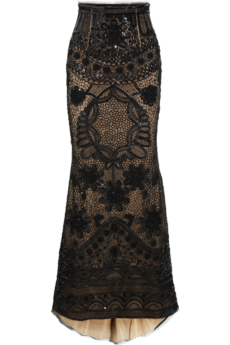 emilio pucci sequined tulle maxi skirt in black lyst