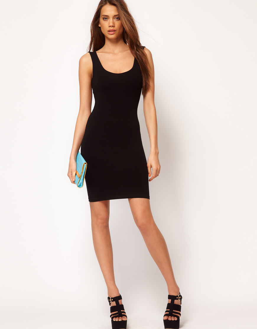 Asos Collection Asos Peplum Top In Sequin In Natural: Asos Collection Asos Bodycon Dress With Strap Back In Blue