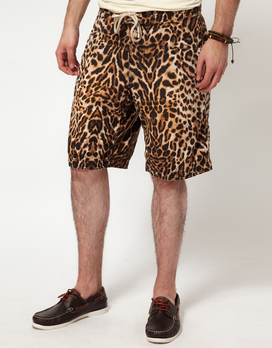 Ralph Lauren Leopard Print Shorts in Animal for Men (black) | Lyst
