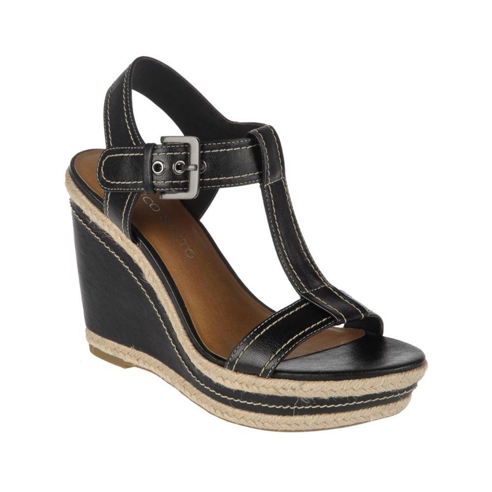 franco sarto ambrosia wedge sandals in black lyst