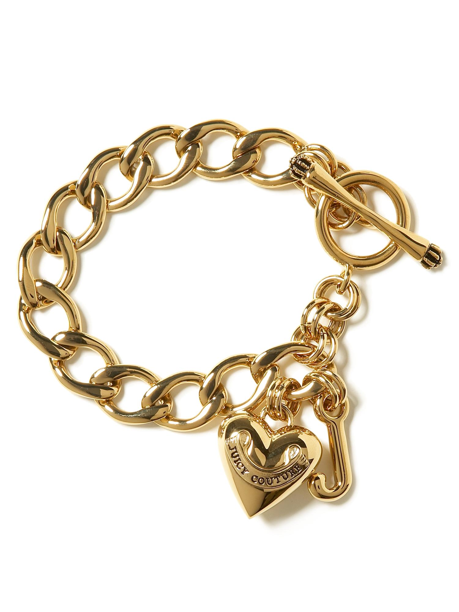 Juicy Couture Starter Charm Bracelet in Gold | Lyst