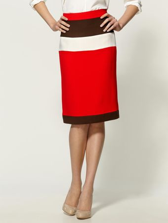Milly Savannah Combo Skirt - Lyst