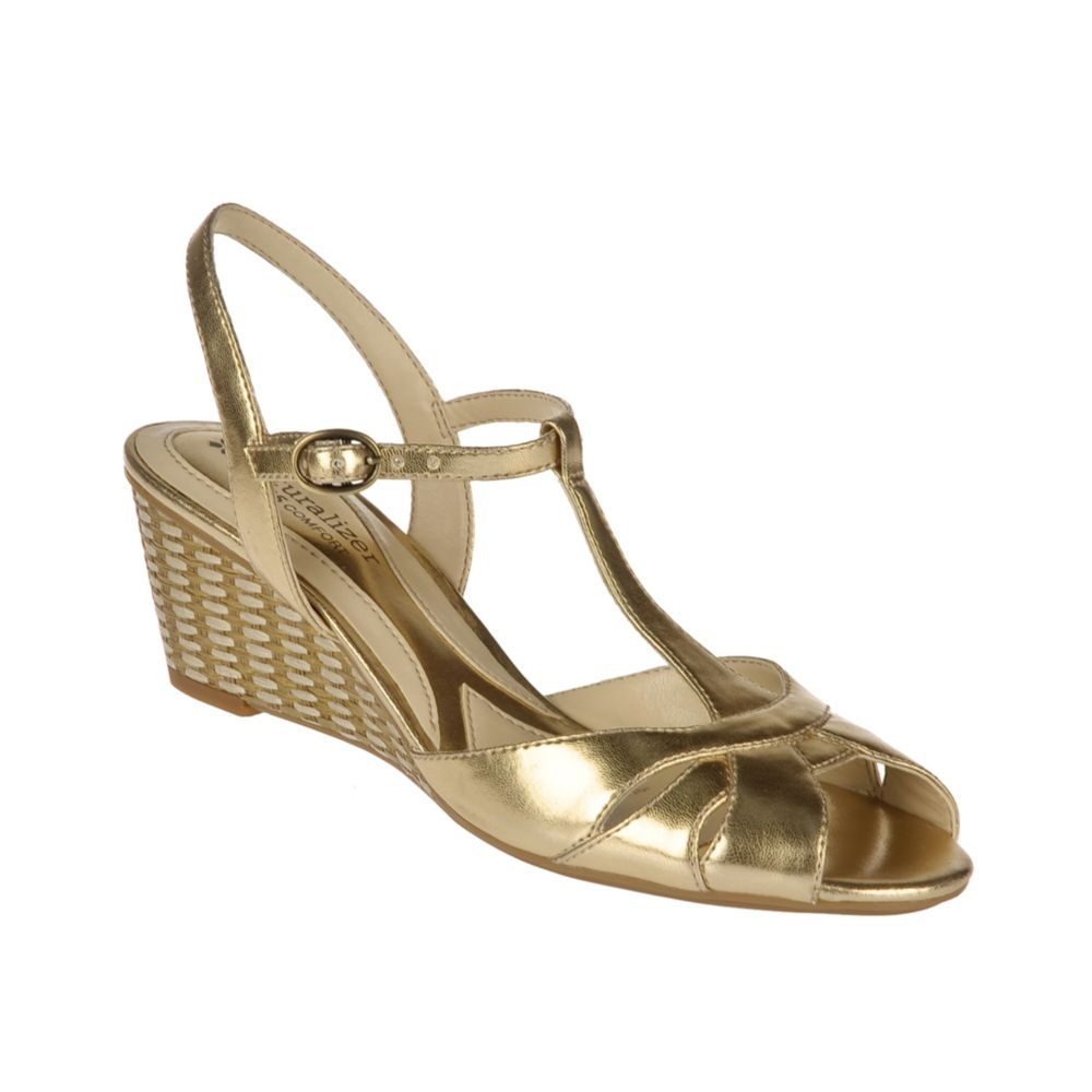 gold wedge sandals gold wedge shoes