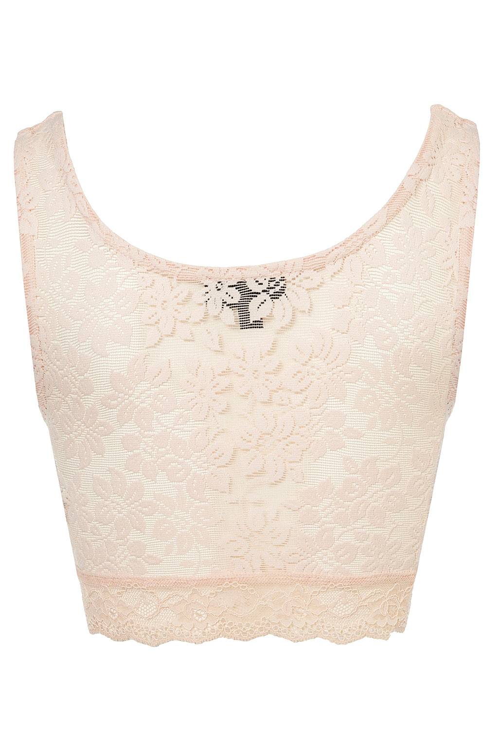 6b7f3f1138d Topshop White Lace Crop Top | Toffee Art
