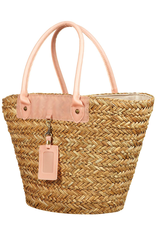 Topshop Straw Basket Bag in Natural   Lyst