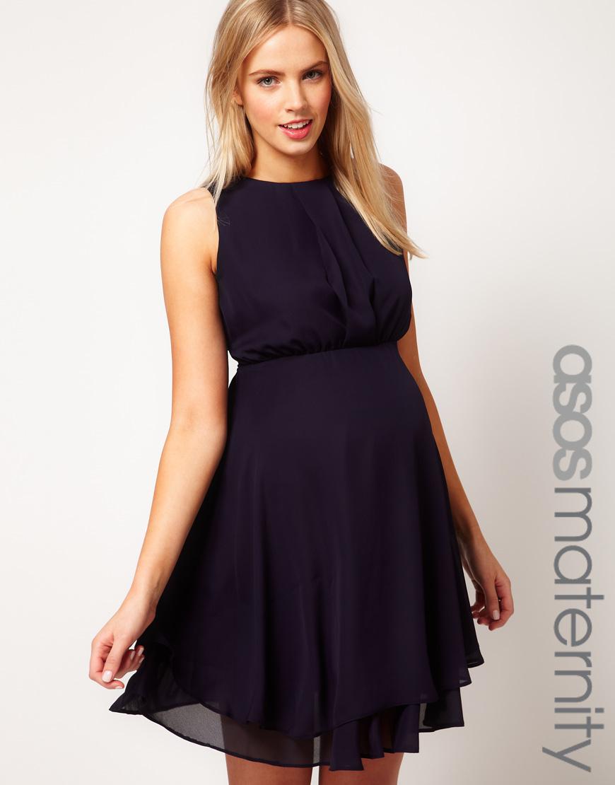 Шифоновое платье для беременных