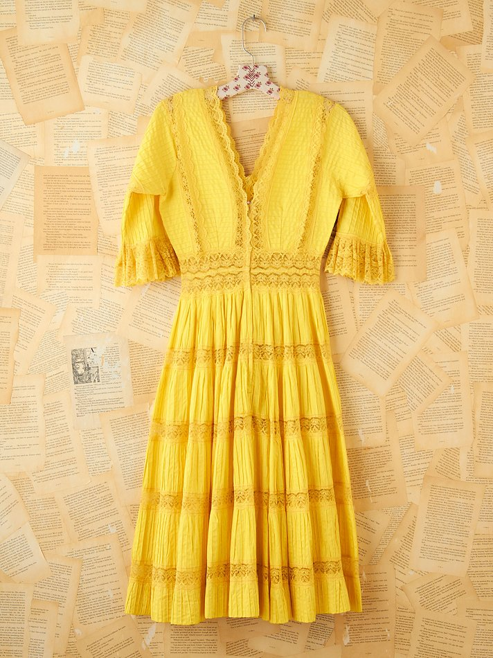 Yellow Vintage Dresses
