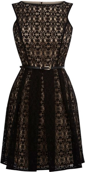 Oasis Lace Cut Out Dress - Lyst