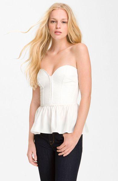Parker Silk Corset Top in White | Lyst