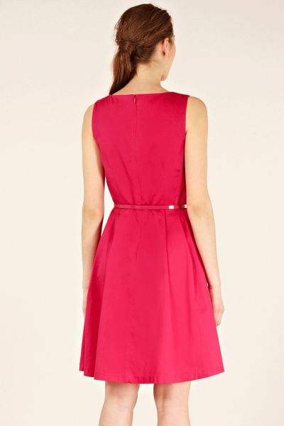 Oasis Kirsten Fit And Flare Dress In Pink Fuchsia Lyst