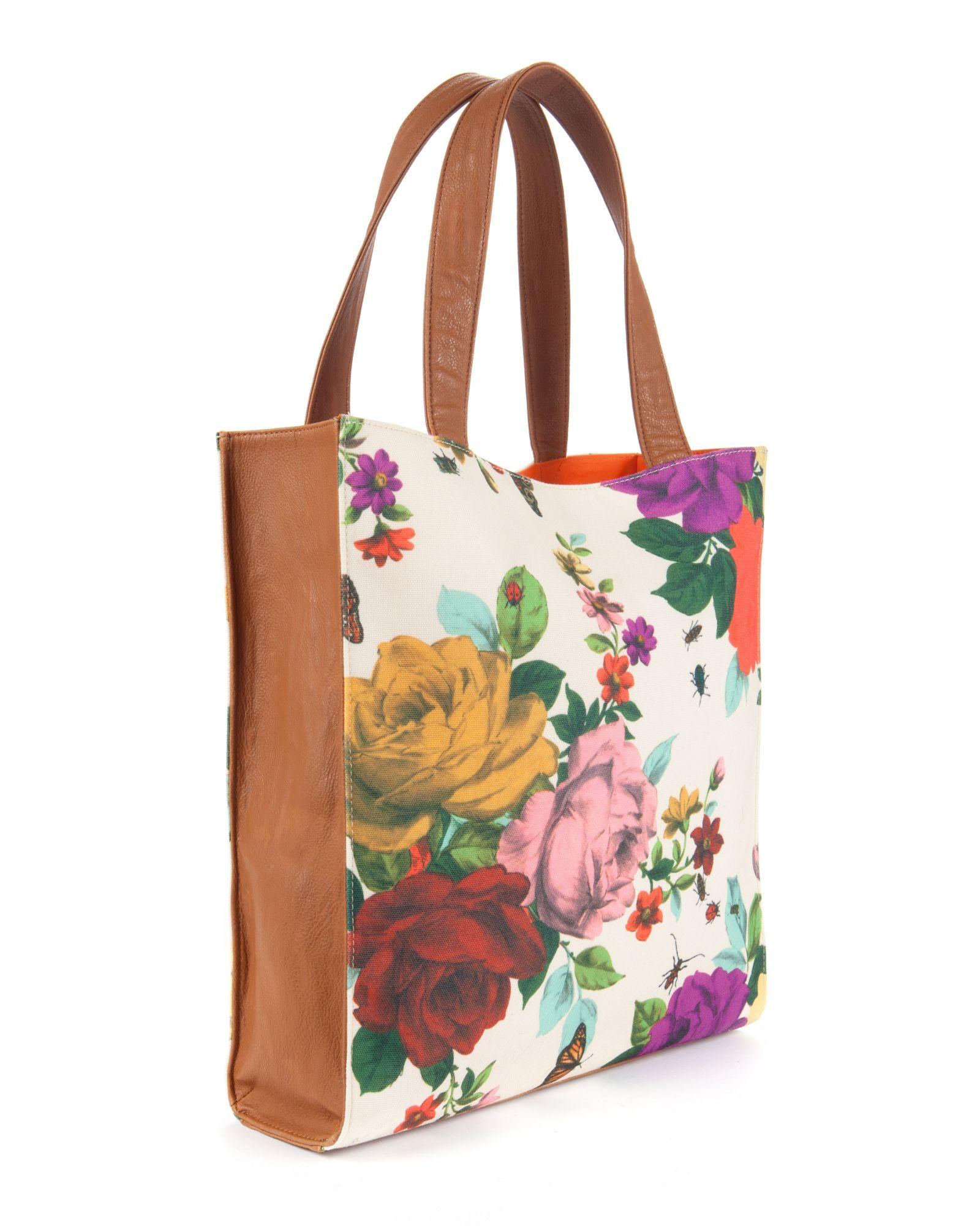 Ted Baker Synthetic Izabela White Floral Large Tote Bag