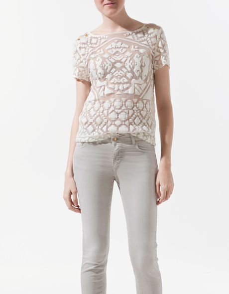 Zara Embroidered Blouse 106