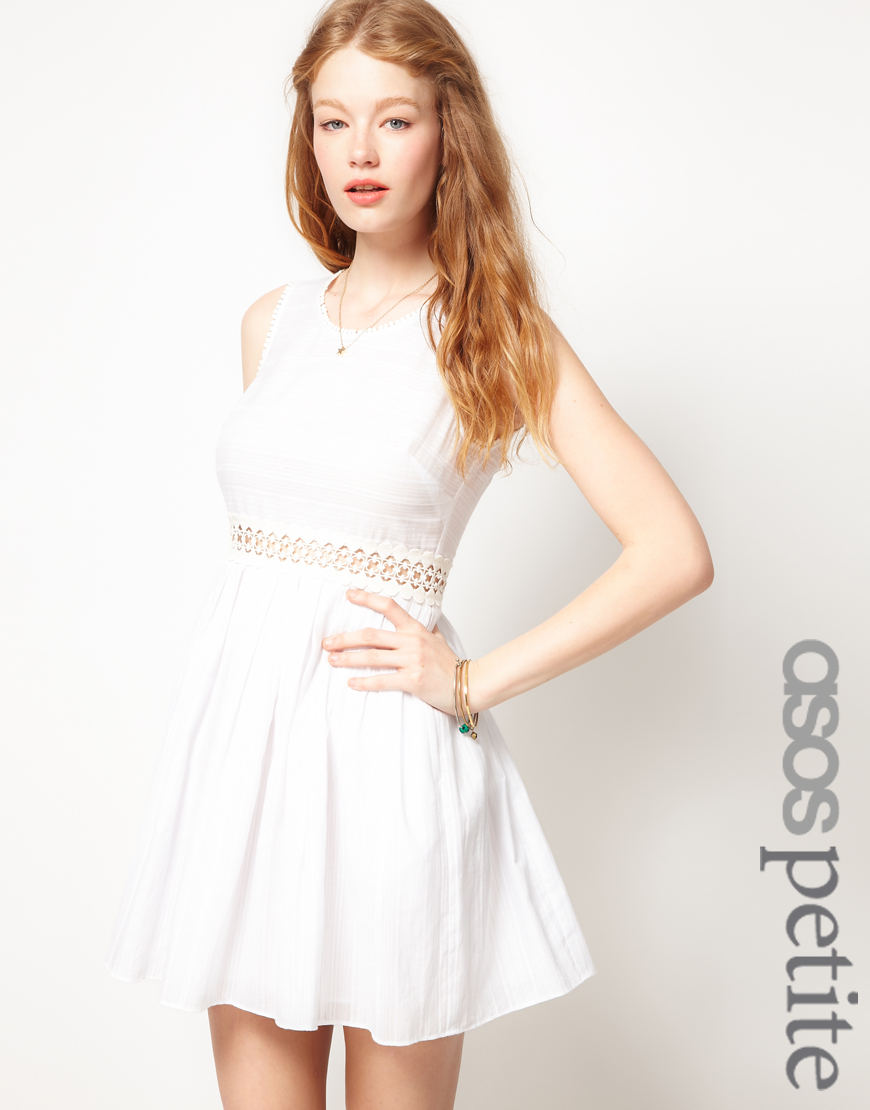 white petite dresses - Dress Yp