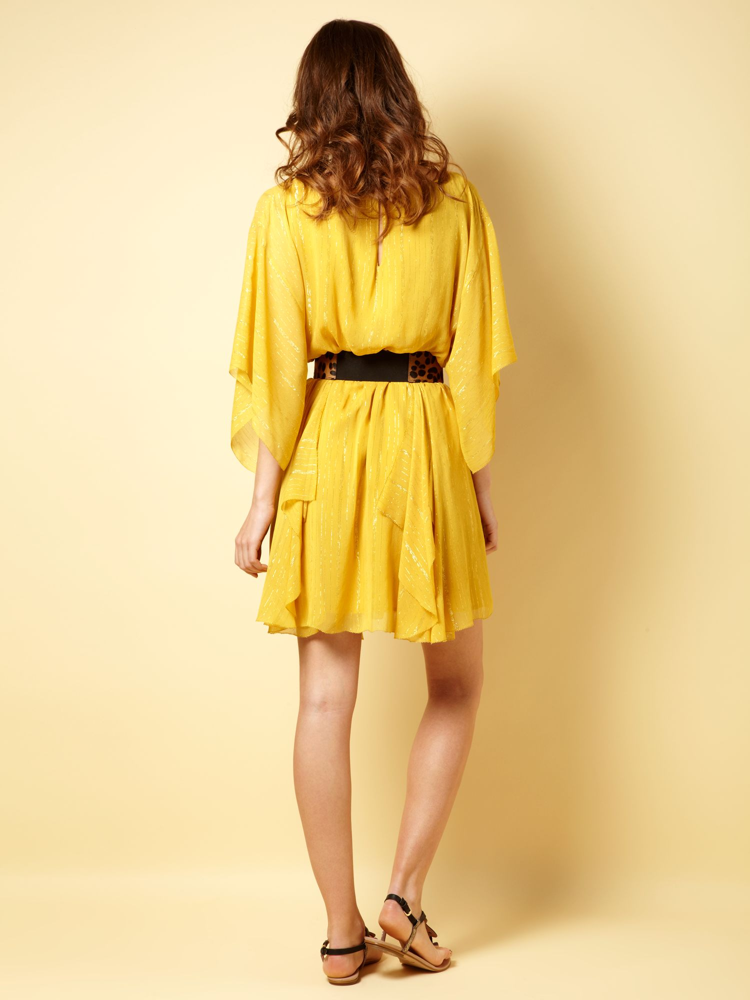 Biba Tunic Lurex Dress in Yellow | Lyst