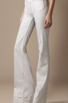 Burberry Borough White Flared Jeans - Lyst