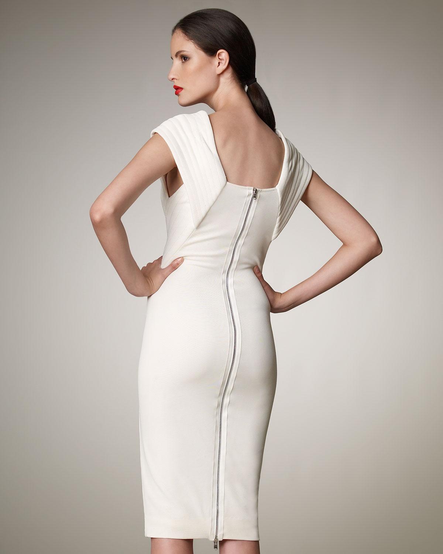 Donna karan Trapunto-stitch Dress in White  Lyst