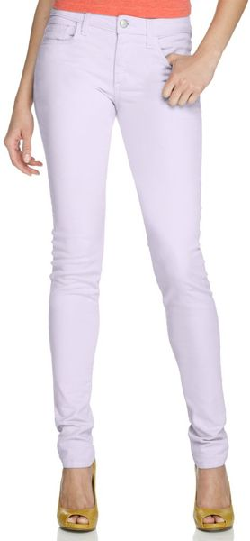 Fashion style Purple light skinny jeans for girls
