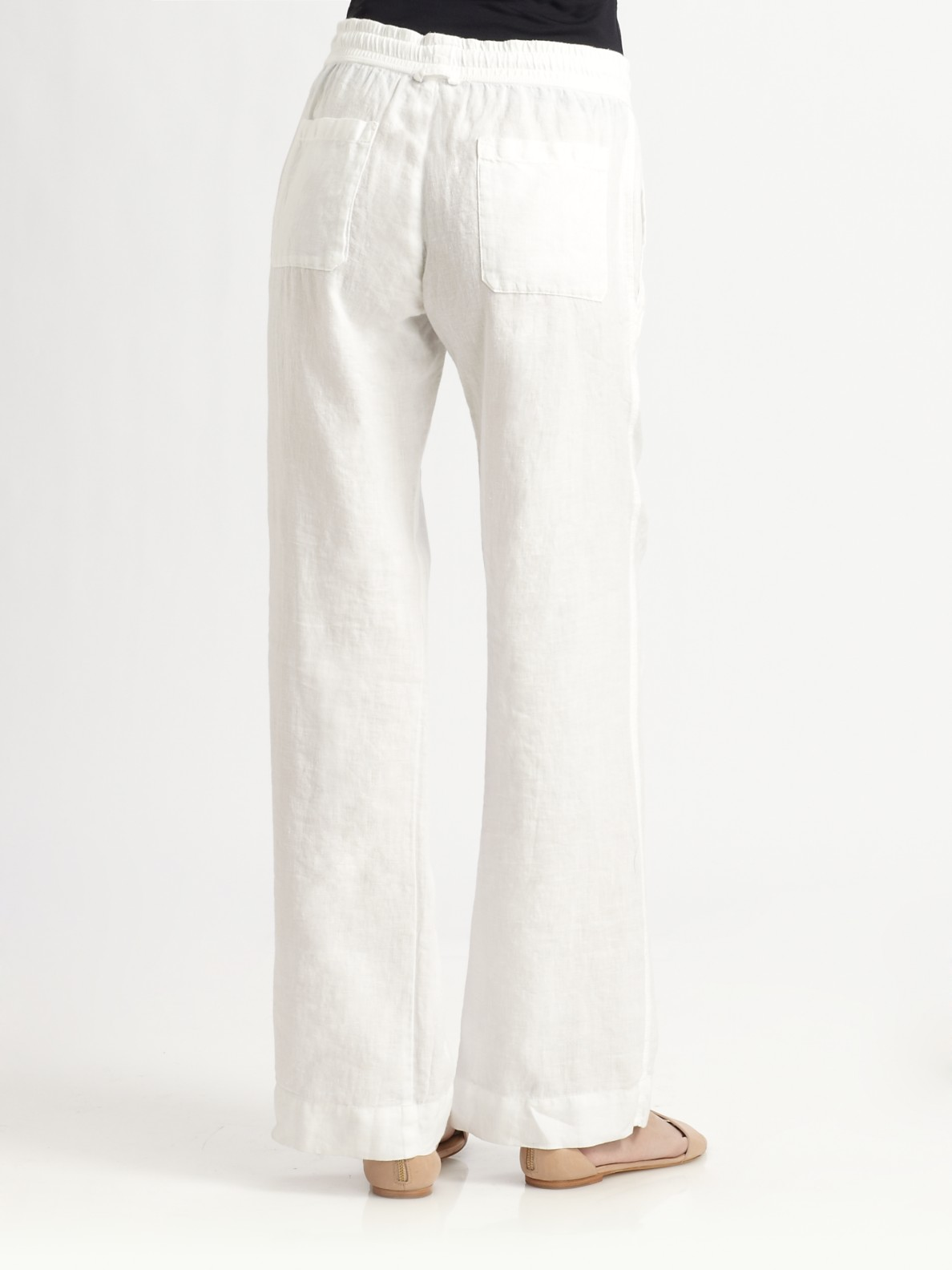 Lyst James Perse Linen Drawstring Pants In White