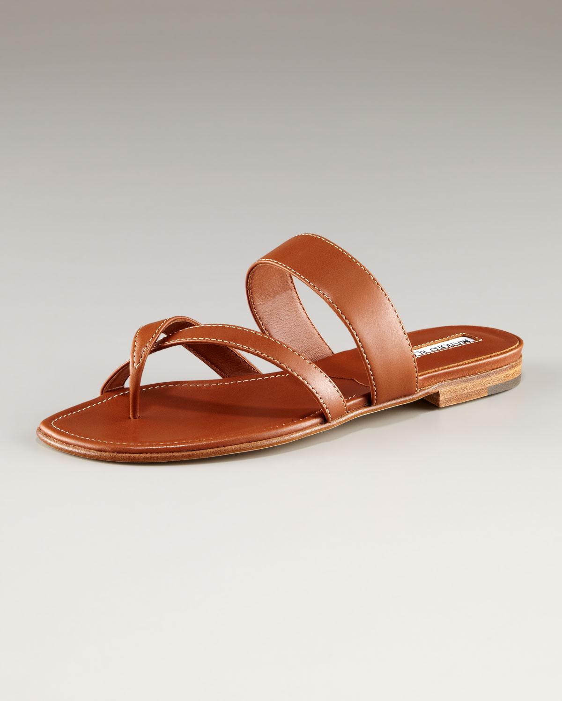 manolo blahnik flat sandals
