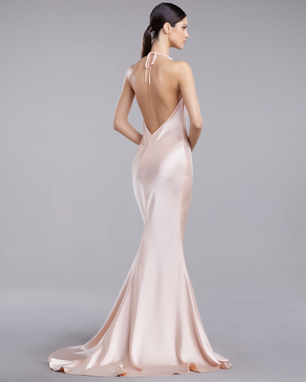 22ba4ff3327fe1 St. John Liquid Satin Bias-Cut Gown in Pink - Lyst