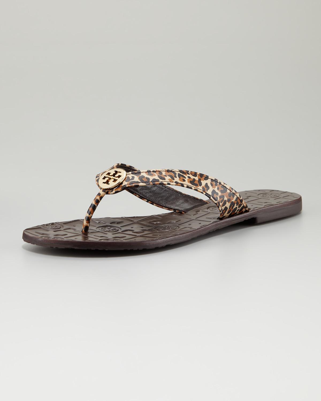 Tory Burch Thora Leopard-print Thong