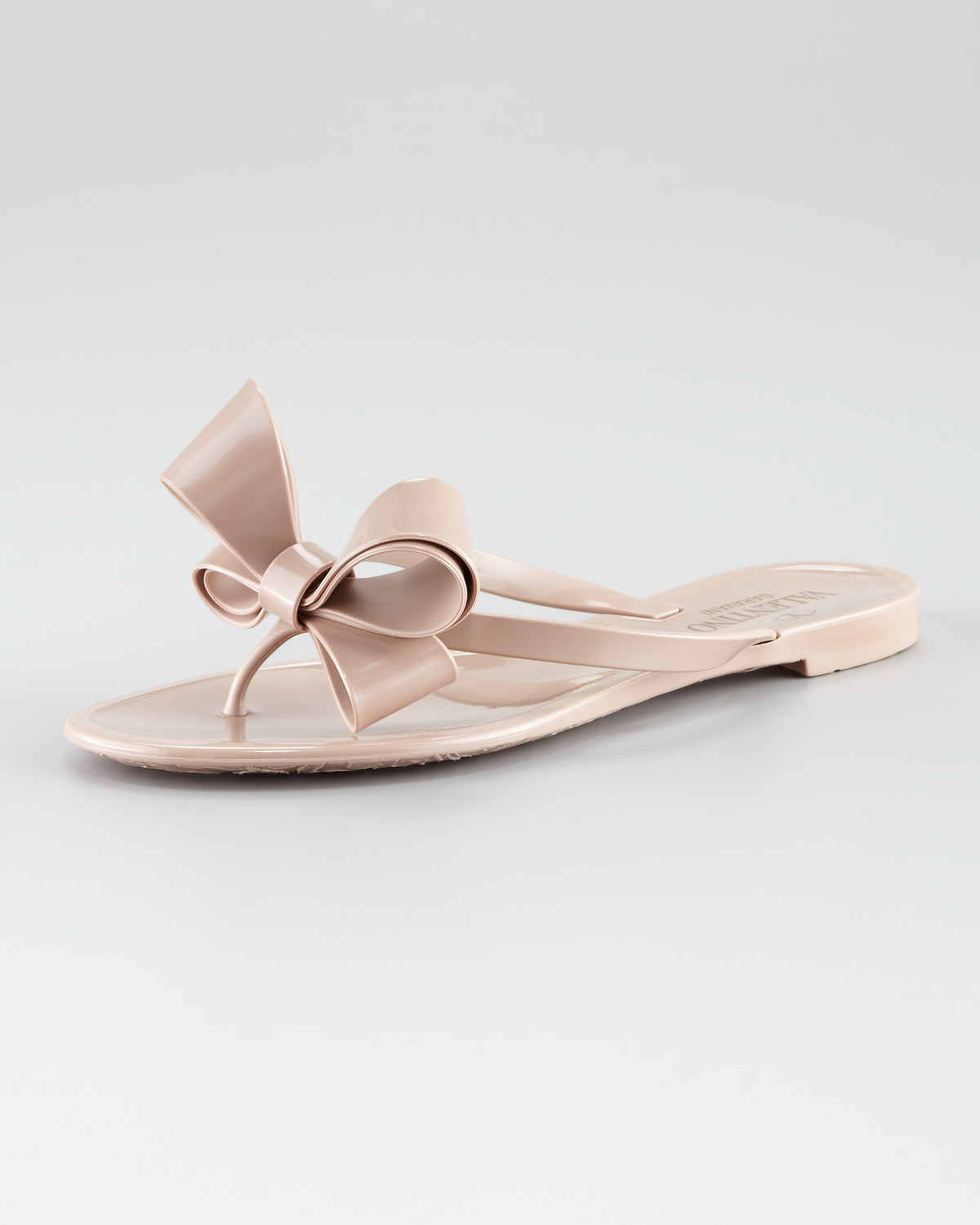 Lyst - Valentino Couture Bow Jelly Thong Sandal in Pink